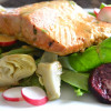 Warm White Wine Salmon Salad