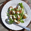 Roasted Potatoes and Baby Greens with Creamy Horseradish Dressing