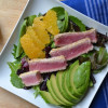 Sesame Crusted Ahi Tuna, Orange, & Avocado Salad