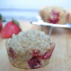 Peach & Strawberry Cobbler Muffins