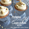 Pistachio Carrot Cake Cupcakes with Brown Sugar-Cream Cheese Frosting