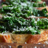 Garlicky Kale and Parmesan Bruschetta