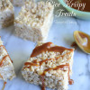 Caramel Apple Oatmeal Rice Krispy Treats