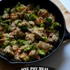One Pot Meal: Lighter Sweet and Sour Chicken and Broccoli