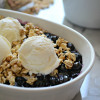 No Bake Gluten Free Blueberry Crisp