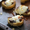 Fig Butter and Honeyed Whipped Goat Cheese Crostini