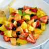 #BrunchWeek: Fresh Mint and Orange Blossom Fruit Salad