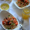Meatless Monday: Leftover Bruschetta Spaghetti