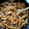 Meatless Monday: One Pot Garlic Tomato Butter Rigatoni with Burrata