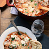 One Pot Mushroom and Spinach Lasagna Soup