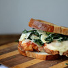 Chicken Parmesan and Kale Caesar Salad Sandwich