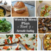 Weekly Meal Plan - Week 9