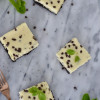 Fresh Mint and Chocolate Chip Cheesecake Bars
