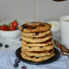 Blueberry Buttermilk Overnight Oat Pancakes