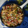 Loaded Chicken Skillet Nachos