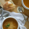 Roasted Garlic, Butternut Squash, and Tomato Soup