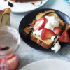 Strawberry and Whipped Cream Nutella Babka Toast