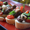 Balsamic Glazed Sausage Bruschetta