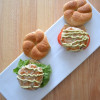 Yellowfin Tuna Burger with Wasabi Avocado Mayo