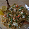 Chardonnay Poached Lobster Linguine