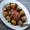 Simple Sunday Supper: Prosciutto Wrapped Pork Loin with Kale and Potatoes