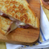 Strawberry-Red Wine Jam & Brie Grilled Cheese Sandwich