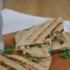 Smoked Cremini Mushroom, Arugula, & Goat Cheese Quesadilla