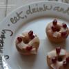 Mini Baked Vanilla Cake Doughnuts with Pomegranate Glaze