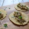 Crockpot Salsa Verde Chicken Tacos
