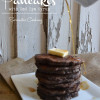 Whole Wheat Chocolate Chocolate Chip Pancakes with Red Eye Syrup