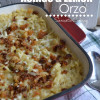 Baked Asiago & Lemon Orzo