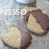 Chocolate-Dipped Espresso Sugar Cookies