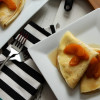 Peach and Ricotta Crepes