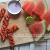 Grilled Watermelon Kebabs with Blueberry-Lime Yogurt Sauce