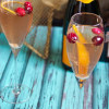 The Girl in the Little Red Kitchen - Cranberry Orange Champagne Cocktail