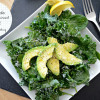 Avocado, Kale, and Spinach Salad