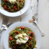 Meatless Monday: Blistered Tomato and Ricotta Spaghetti