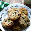 Fresh Mint and Dark Chocolate Chunk Cookies