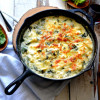 Triple Cheese Spinach Skillet Lasagna