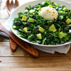 Meatless Monday: Kale and Spinach Chopped Salad with Avocado and Burrata