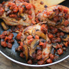 What's for dinner? Mushroom and Tomato Smothered Pork Chops