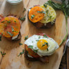 Open-Faced Heirloom Tomato and Whipped Feta Breakfast Sandwiches