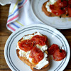 Simple Burst Tomato and Ricotta Toast