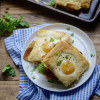 #BrunchWeek - Baked Toad in a Hole Breakfast Sandwiches