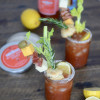 Stirrings Holiday Mixology Challenge - Lemon Pepper Rosemary Bloody Mary