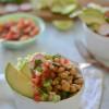 Poblano Braised Chickpea Burrito Bowls