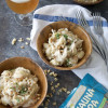 One Pot Chicken and Shells with Honey IPA Cream Sauce and Macadamia Nuts
