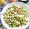Shaved Brussels Sprout, Apple, and Pomegranate Slaw