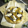 Beet and Burrata Pizza with Honey and Pistachios