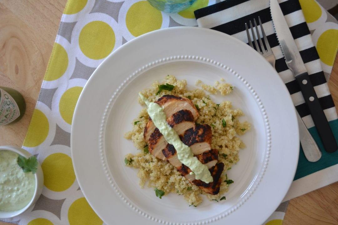 Blackened Chicken and Cilantro Lime Quinoa | Live Inspired